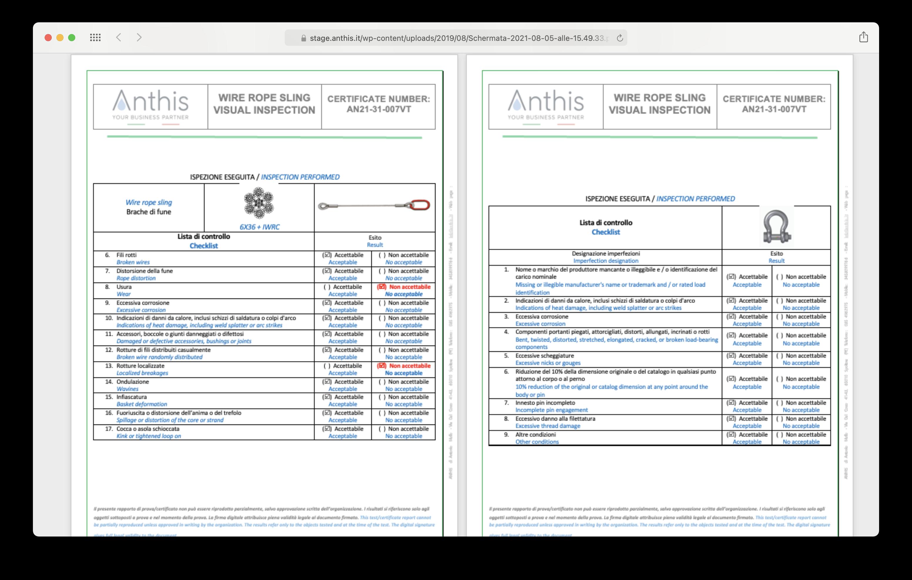 Il certificato è pronto in realtime e disponibile nel nostro database e nella vostra mailbox.